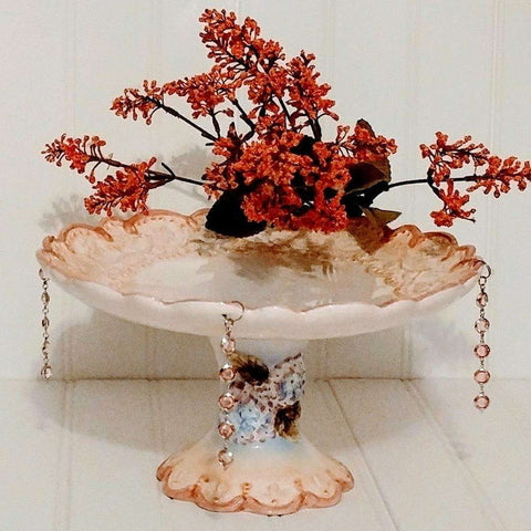 Cute Cake Stand Vintage Hanging Acrylic Pink Beads Jewels