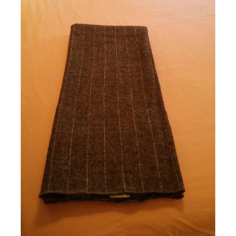 Blanket Throw Lap Vintage United Airlines Cabin Washable Dark Charcoal Gray