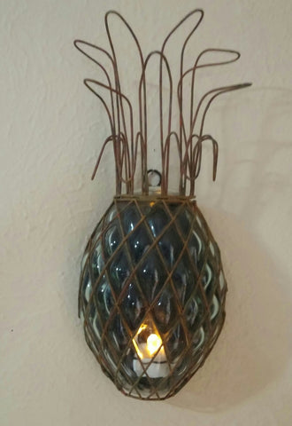 SOLD Most Items Are 1 Of's: Vintage #Wall Sconce #Pineapple Bubble Glass,