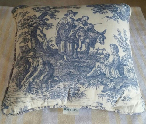SOLD Most Items are 1 of's #Throw Pillow #Waverly Country Life #Toile Decorative Functional