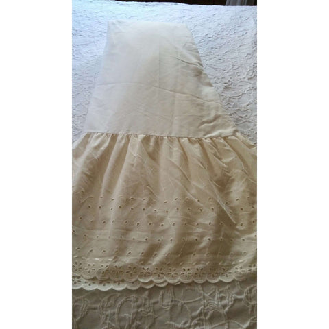 Bedskirt Dust Ruffle Westpoint Stevens Full Double Matrimonial Embroidered