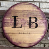 Reclaimed Wine Barrel Head (C10)