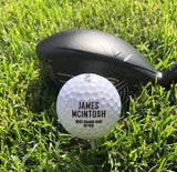 SET OF 3 PERSONALIZED GOLF BALLS