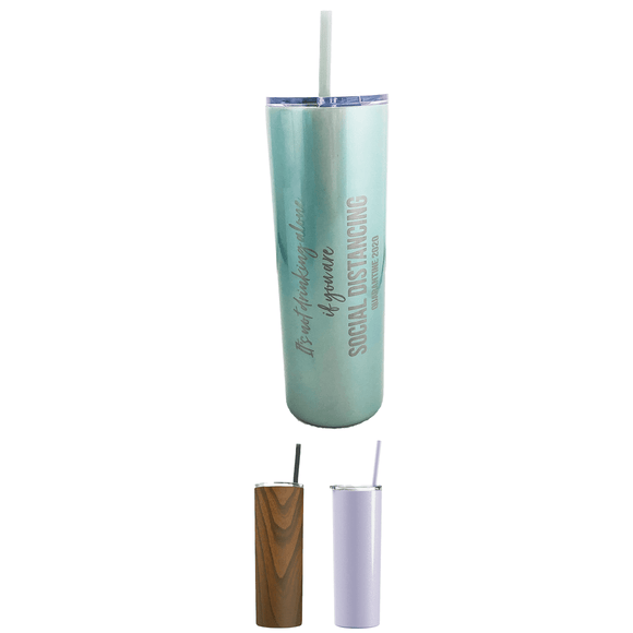 20 oz Insulated Tumbler with Lid and Straw