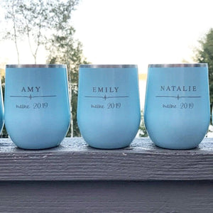 Engraved Stemless Tumblers - I Do Collection (B5)