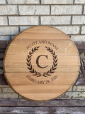 Napa Valley Wine Barrel Lid Reclaimed (C4)