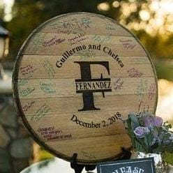 Reclaimed Napa Valley Wine Barrel Head I DO Collection (C5)