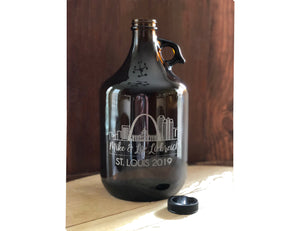 Rehearsal Dinner Centerpiece - Engraved Beer Growler