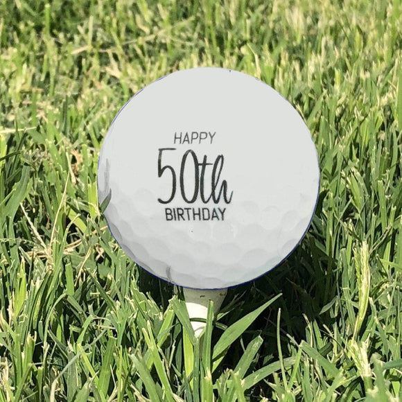 50th Birthday Gift Personalized Golf Balls (1 Dozen)