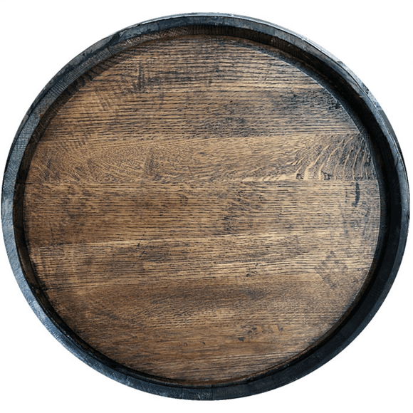 Whiskey Barrel Head with Hoop