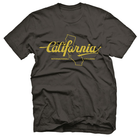 "MENS ""CALIFORNIA"" T-Shirt - HEATHER BLACK"