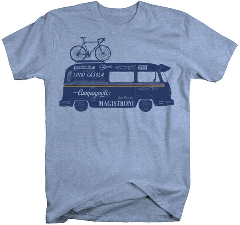 "MENS ""CAMPERVAN"" T Shirt - HEATHER BLUE"