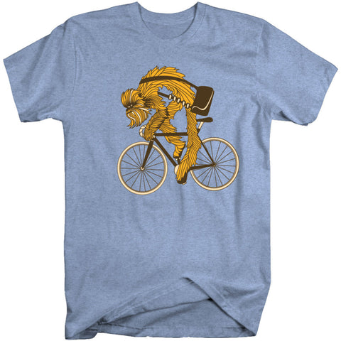 CHEWIE RIDES T SHIRT - Heather Blue - BACK IN STOCK