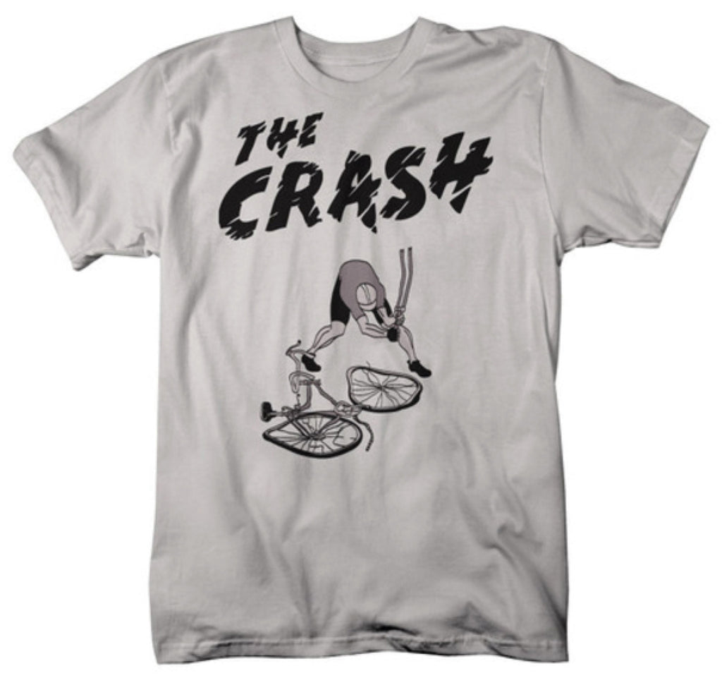 "MENS ""THE CRASH"" T Shirt - Silver Grey"