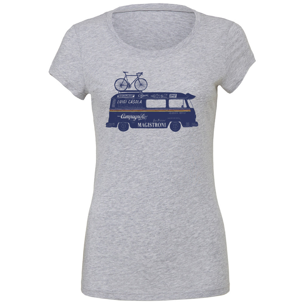 "WOMENS ""CAMPER VAN"" T-Shirt - HEATHER GREY"