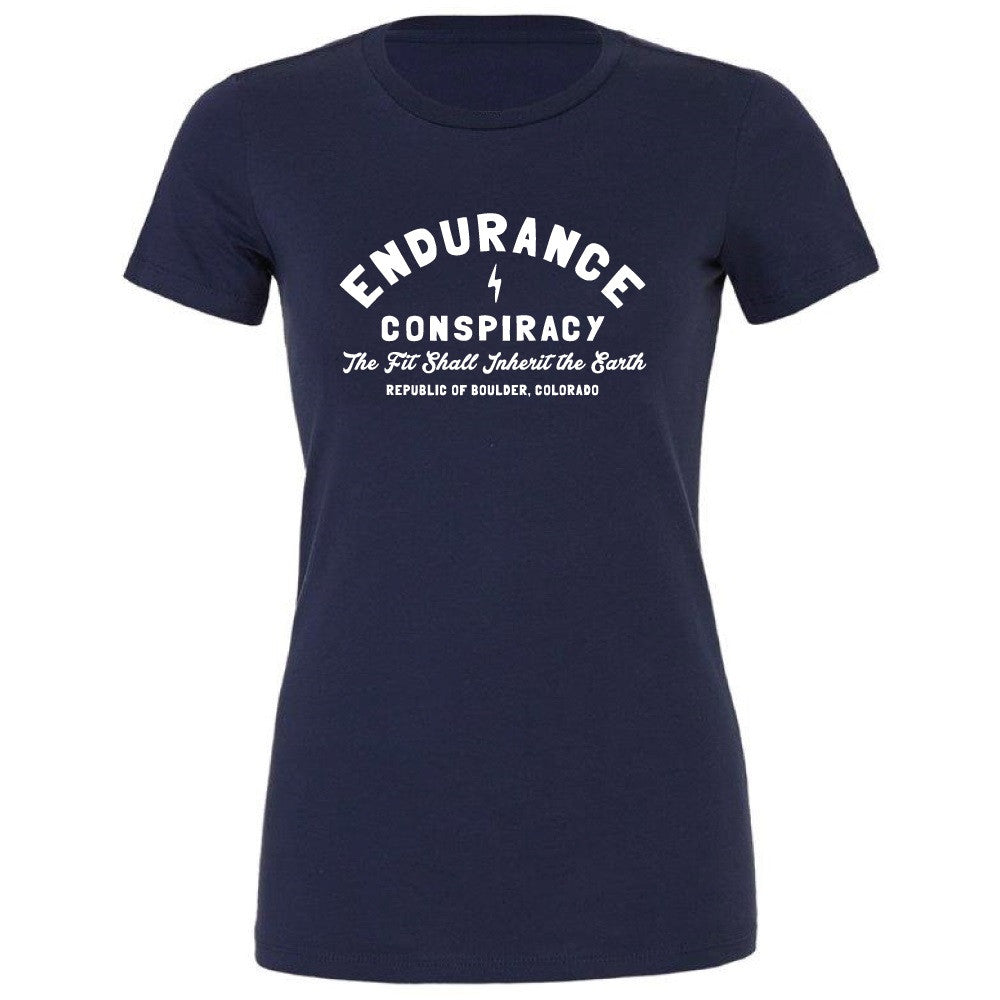 "WOMENS ""BOULDER SHOP"" T-Shirt - NAVY"