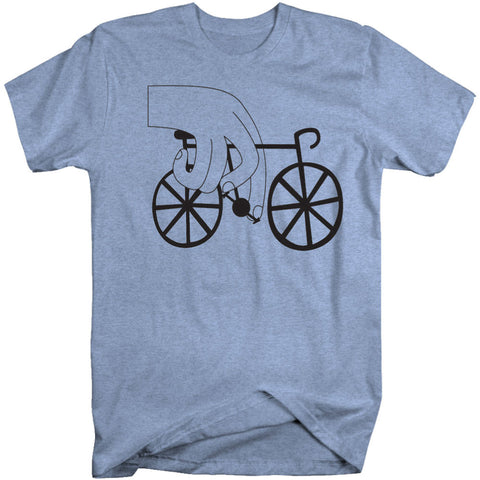 "MENS ""BIKERS HAND JOB"" T-Shirt - Heather Blue"