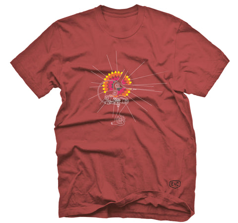 "MENS ""SUNNY DERAILLEUR"" T Shirt - Red"