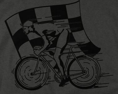 A close up of Wicked Fast Cycling T Shirt on a charcoal T Shirt