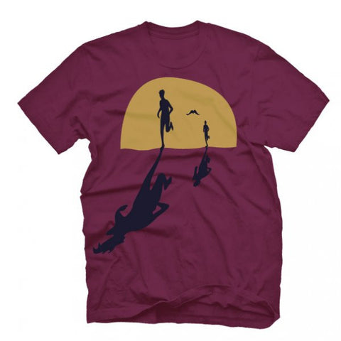 "MENS ""DAWN PATROL"" T Shirt - Maroon"