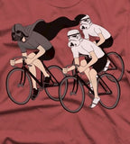 A close up of Hypserspace Cycling T Shirt on a Red T Shirt