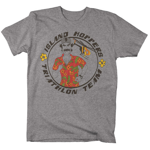 "Mens ""Island Hoppers"" T Shirt - Athletic Grey"