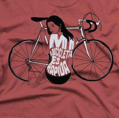 A close up of Live And Let Ride Cycling T Shirt on a red T Shirt