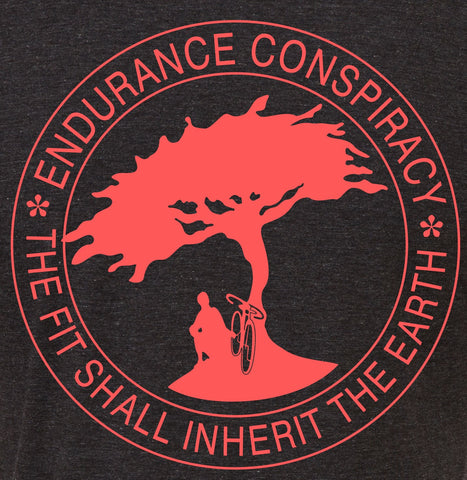 "Mens ""The Fit Shall Inherit the Earth"" T Shirt - Charcoal Grey"