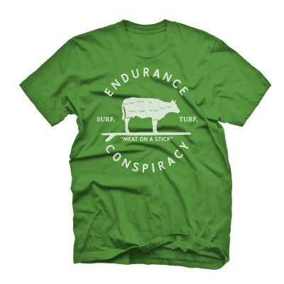 "Mens ""Surf & Turf"" T Shirt - Grass Stain Green"