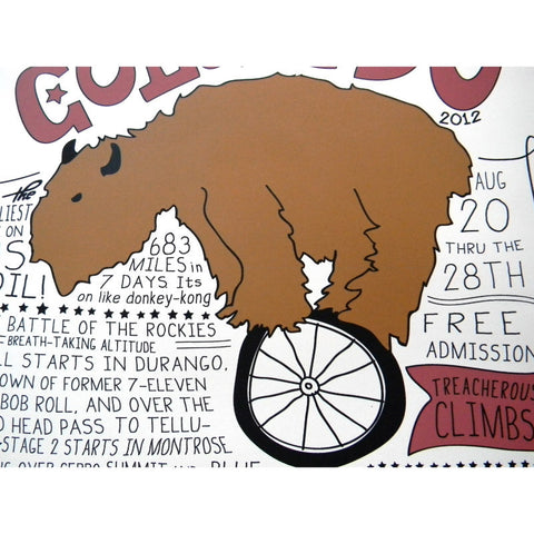 Ronde Van Colorado Poster - Signed by Tony DeBoom