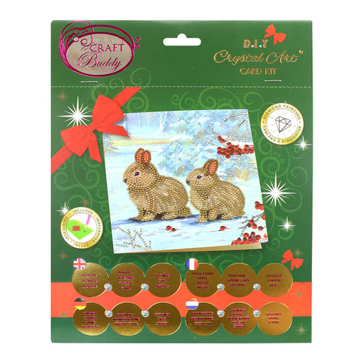 Crystal Card Kit - Winter Bunnies
