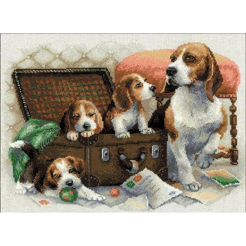 RIOLIS Counted Cross Stitch Kit - Canine Family