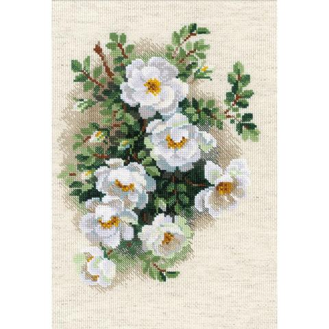 RIOLIS Counted Cross Stitch Kit - White Briar