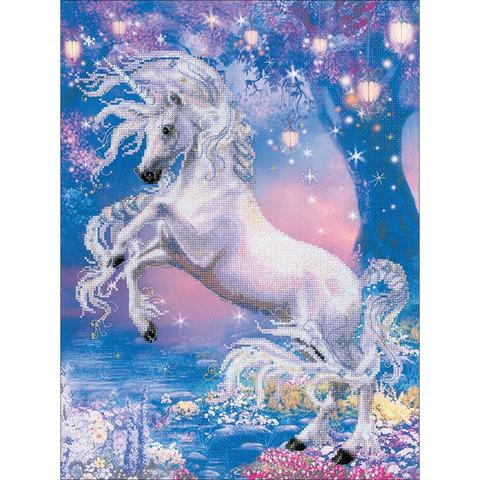 RIOLIS Stamped Cross Stitch Kit - Unicorn