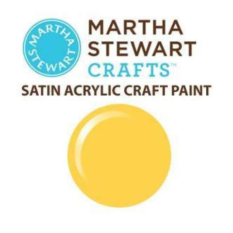 Martha Stewart Satin Acrylic Craft Paint - Jonquil