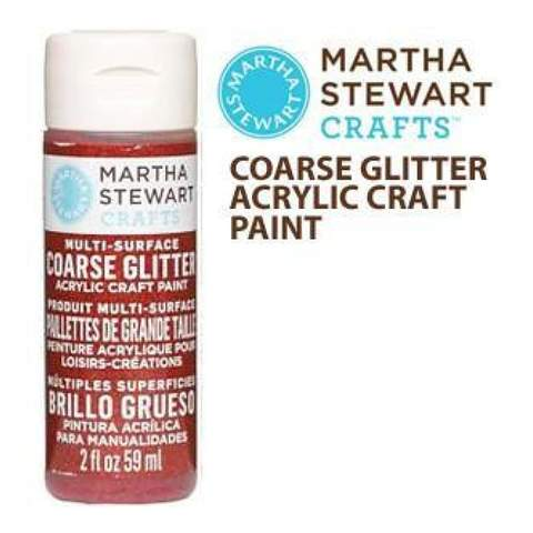 Martha Stewart Coarse Glitter Acrylic Craft Paint - Garnet