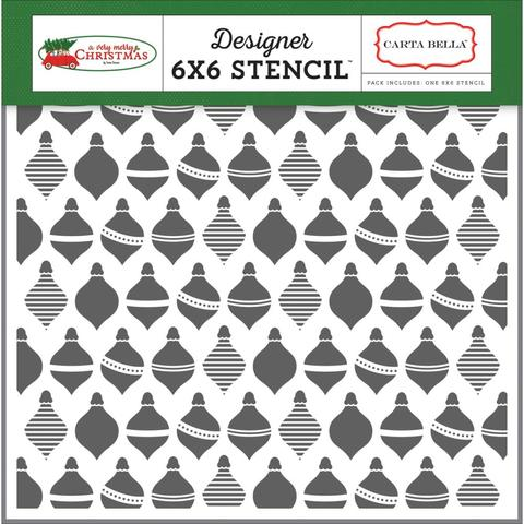 Carta Bella Stencil - Holiday Ornaments