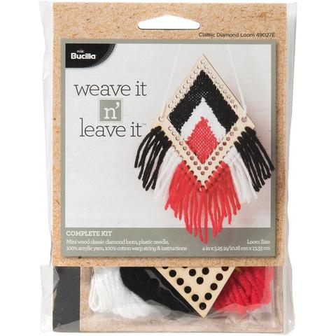 Bucilla Weave It N Leave It Classic Diamond Mini Loom Kit