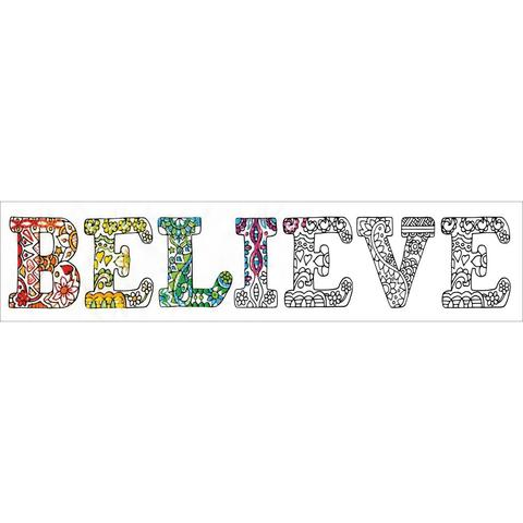 Zenbroidery Stamped Embroidery - Believe