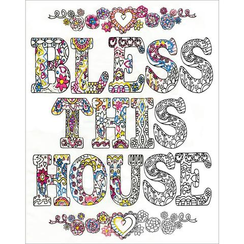 Zenbroidery Stamped Embroidery - Bless This House