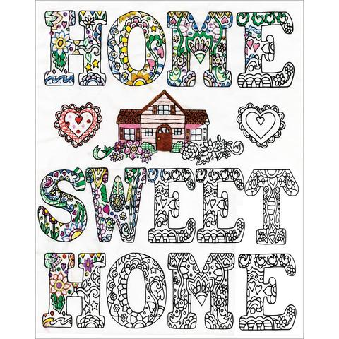 Zenbroidery Stamped Embroidery - Home Sweet Home