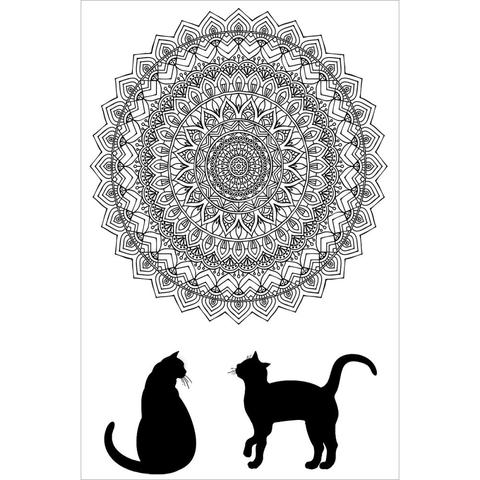 Zenbroidery Stamped Embroidery - Cat Mandala