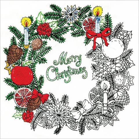 Zenbroidery Stamped Embroidery - Christmas Wreath