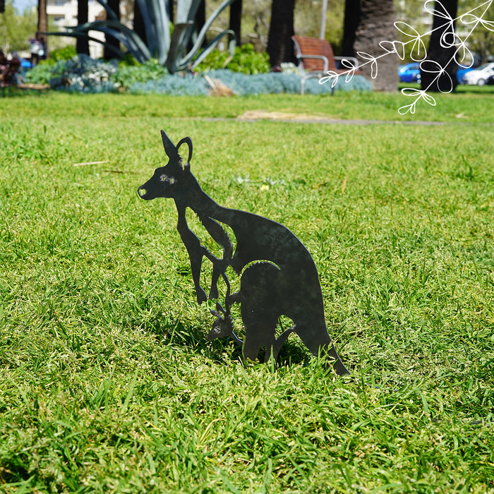 Kangaroo Garden Art - regular size