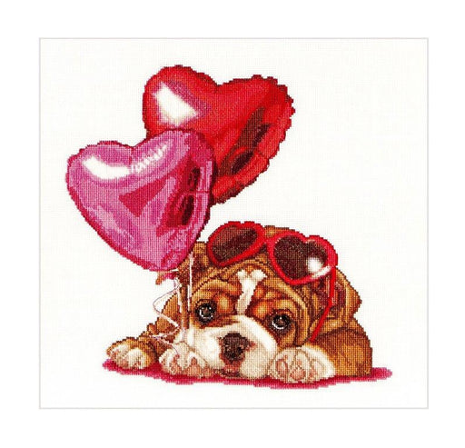 Valentine's Puppy - Cross-Stitch Kit