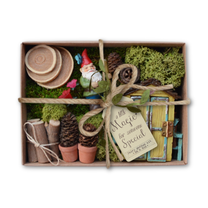 Fairy Garden Kit in a Box - Gardening Gnome