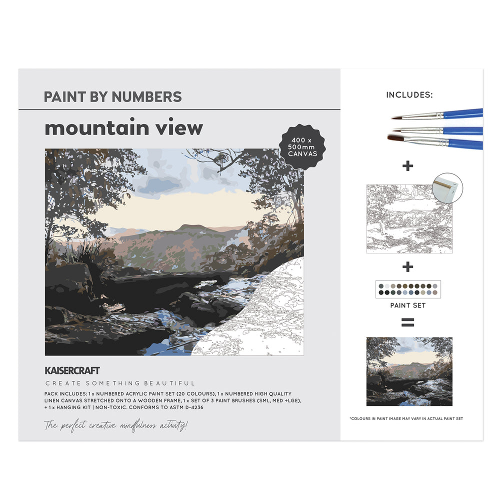 Paint By Numbers - Mountain View