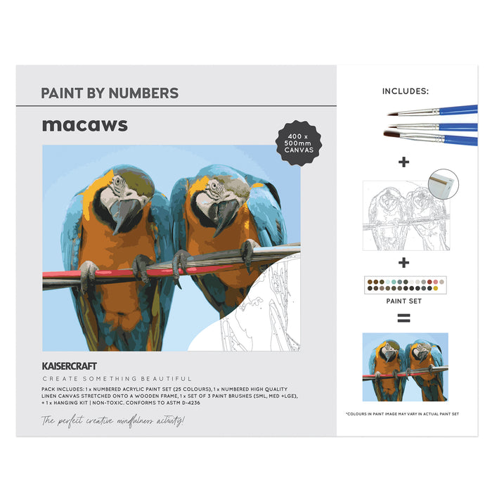 Paint By Numbers - Macaws