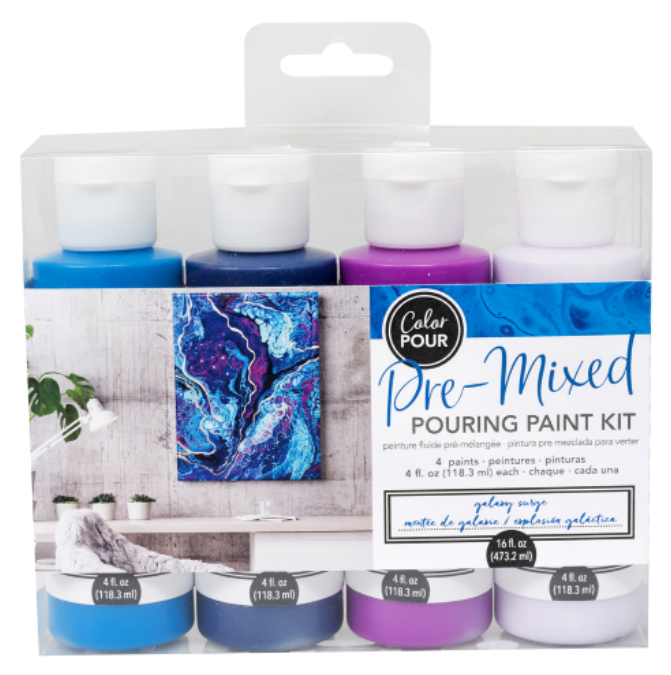 Galaxy Surge Pre-mixed Pouring Paint kit