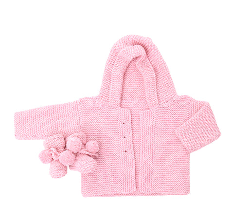 Classic baby cardie and bootie set